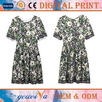 High Quality Digital Printed Custom Summer Dress