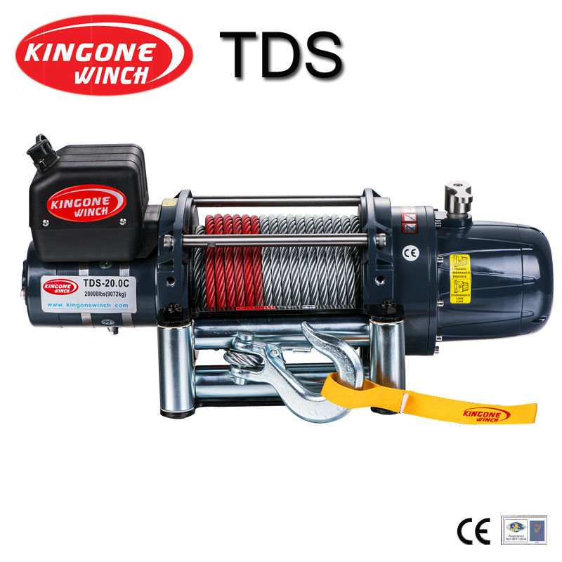 heavy duty winch TDS-20.0C SR recovery winch with double cone brake electrical construction tool