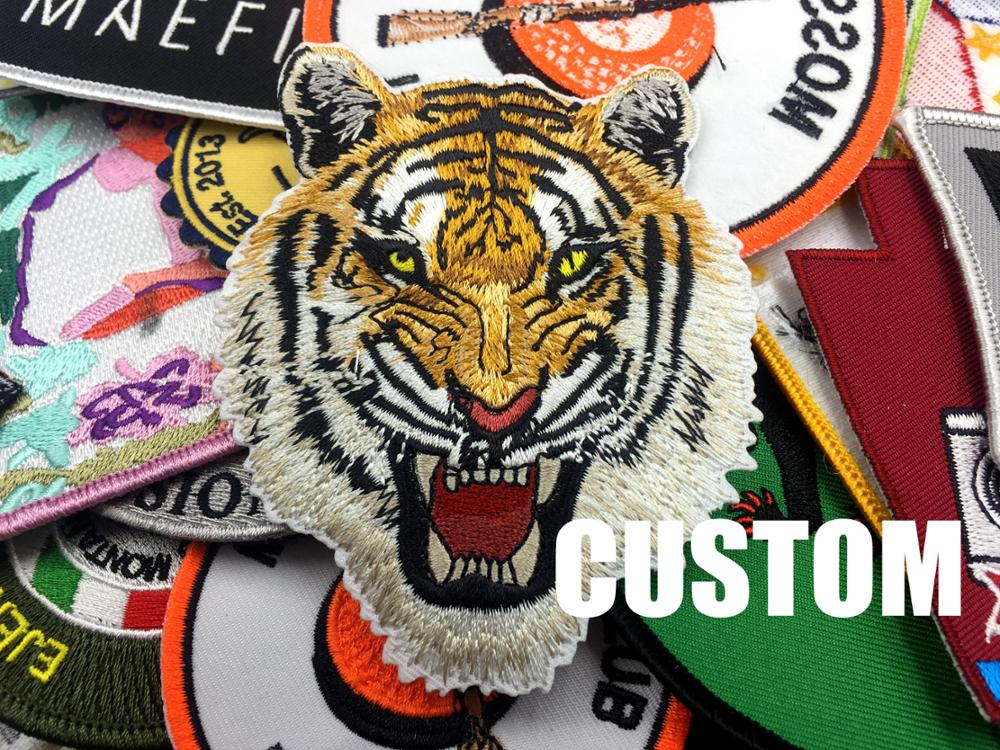 logo cheap clothing iron on Custom embroidered patches for patches embroidered
