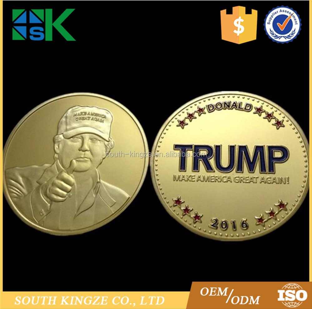 High Quality and Hot <strong>Design</strong> Make America Great Again Trump Challenge Coin