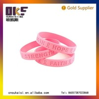 Wholesale Colorful Glowing Silicone Bracelets China Make Rubber Latex Band Bracelet