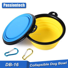 2017 Factory Wholesale Superior Quality Collapsible Dog Bowl Pet Collapsible Silicone Feeding Feeder Bowl Foldable Pet Bowl