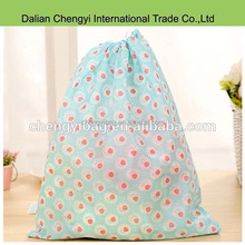 Cheap nontoxic promotional non-woven drawstring shopping shoes bag