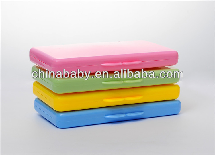 four color plastic baby wipe case