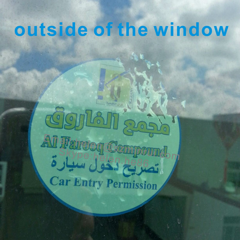 Custom Self Adhesive Transparent Window Labels,Clear Destructible Vinyl Sticker Car Access License Sticker