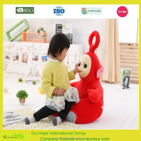 Stuffed plush bear chair for kid 60*58cm teletubbies Antenna doll baby doll creative lazy sofa tatami MATS bear plush toy doll b