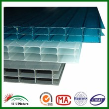 11.11Polycarbonate hollow triple-wall sheet with Bayer virgin Material.PC hollow panels. Colorful hollow pc sheets for carports