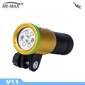 Free Shipping HI-MAX V11 Diving Torch Led - Golden