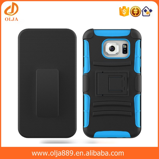 Stand robot case, 2 in 1 PC+SILICONE phone case for samsung galaxy a8 back cover