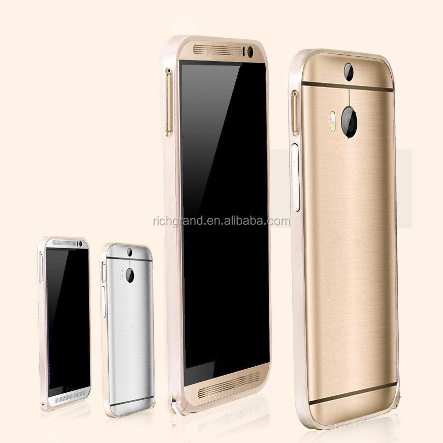 Luxury ultra thin aluminum metal bumper frame case for HTC One M7