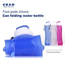 2017 Hot Selling Insulated Silicone Collapsible Water Bottle Foldable silicone sports water bottle BPA Free