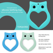 OEM soft food grade owl teether silicone baby teether stick