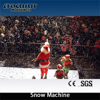 Artificial snow making machine, falling down as real snow feeling