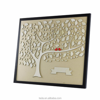Alibaba Best Sale Wedding Tree Signature for Wedding Guest Book