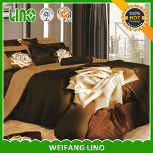 stitching adult bed cover/photo print bedding set/3d comforter sets