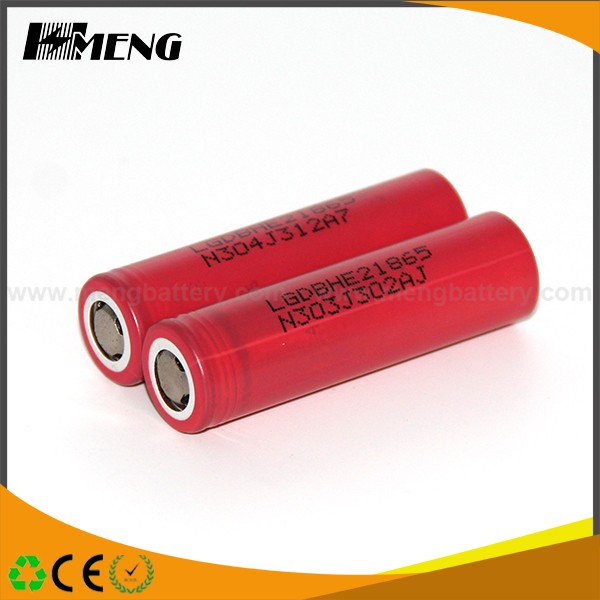 Hot Selling 18650 HE2 for LG 3.7V 2500mah rechargeable battery small flat batteries