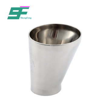 Promotional stainless steel round shape eccentric hygienic pipe fitting