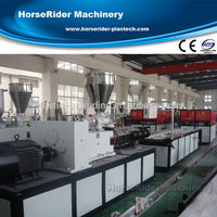 WPC decking production line Wood plastic profile making machine / WPC profile extrusion machine
