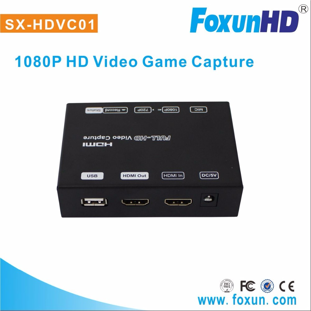 SX-HDVC01 1080P game capture hd using H.264 compression encoding