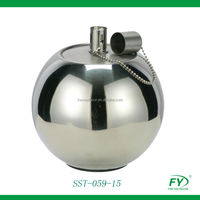 Stainless steel ball oil lamp with stainless steel tank torch SST-059-15