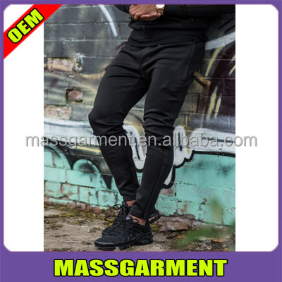 MEN'S BLACKOUT TAPERED POLY TRACKSUIT BOTTOMS