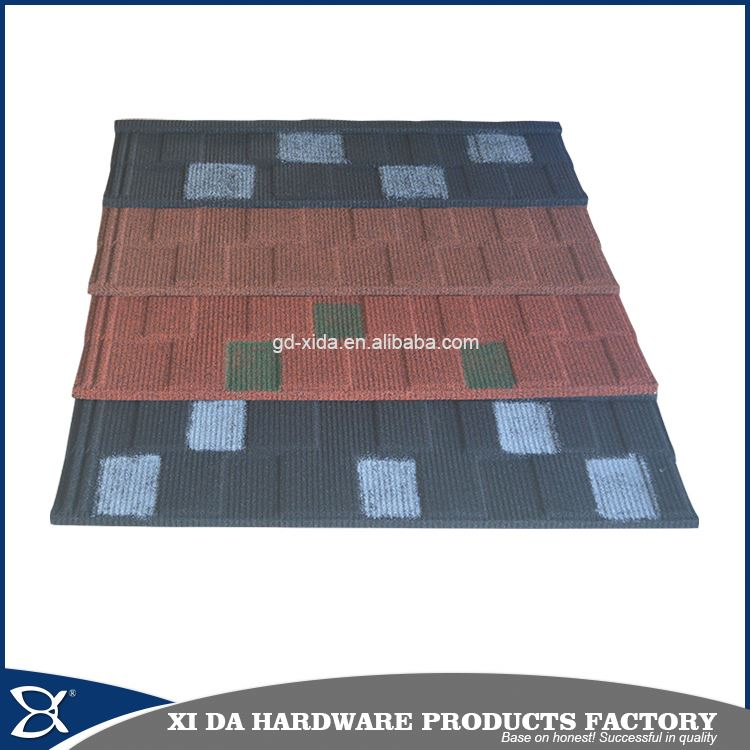 Cheap stone coated metal roof tile asphalt roofing shingles