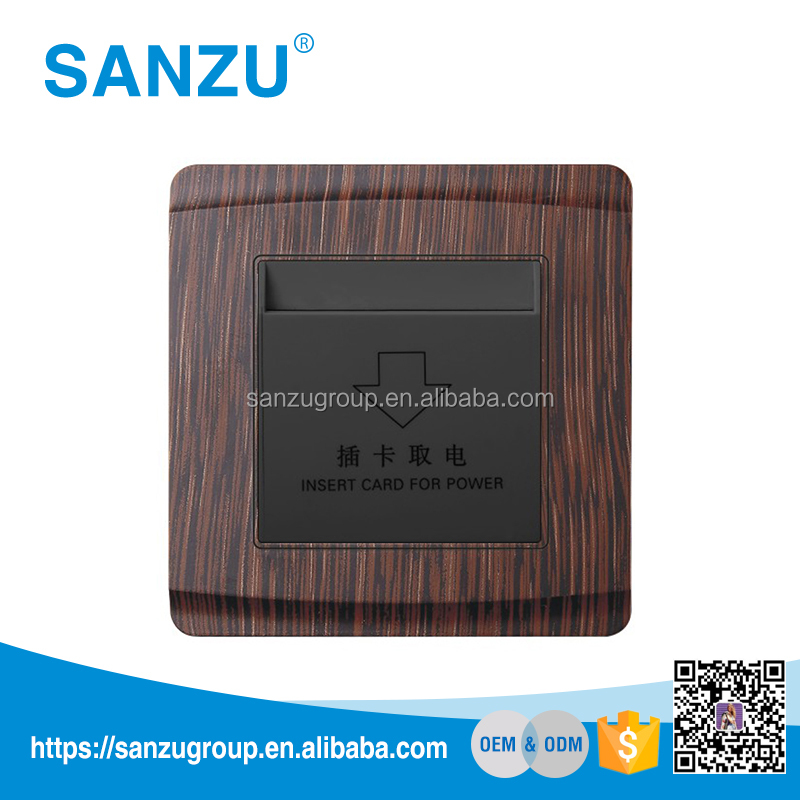 High quality hotel energy saving card key electrical wall switch