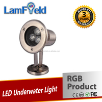 IP68 Waterproof 3W RGB LED Pool Underwater Light With DMX512 Controller