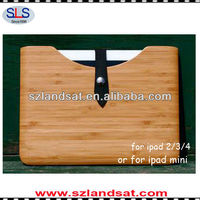 Hot factory direct sales 100% real natural bamboo cases for ipad3 IBC06