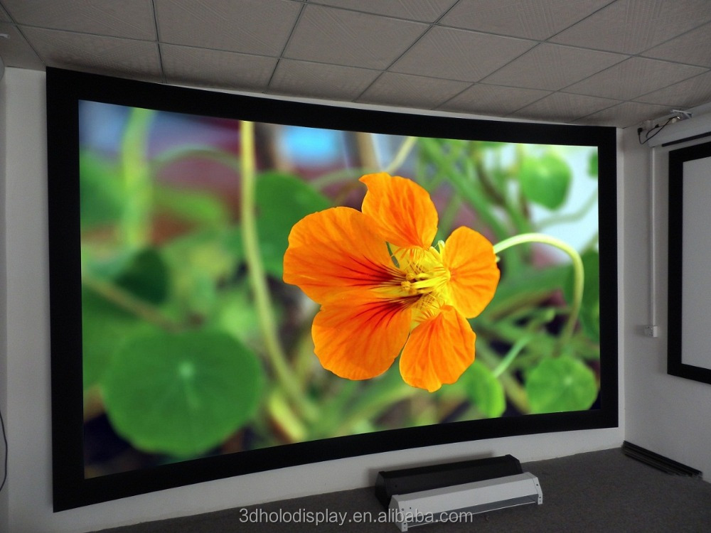 "16:9 180"" Curved Fixed Frame Projector Screen / Curved Projection Screen"