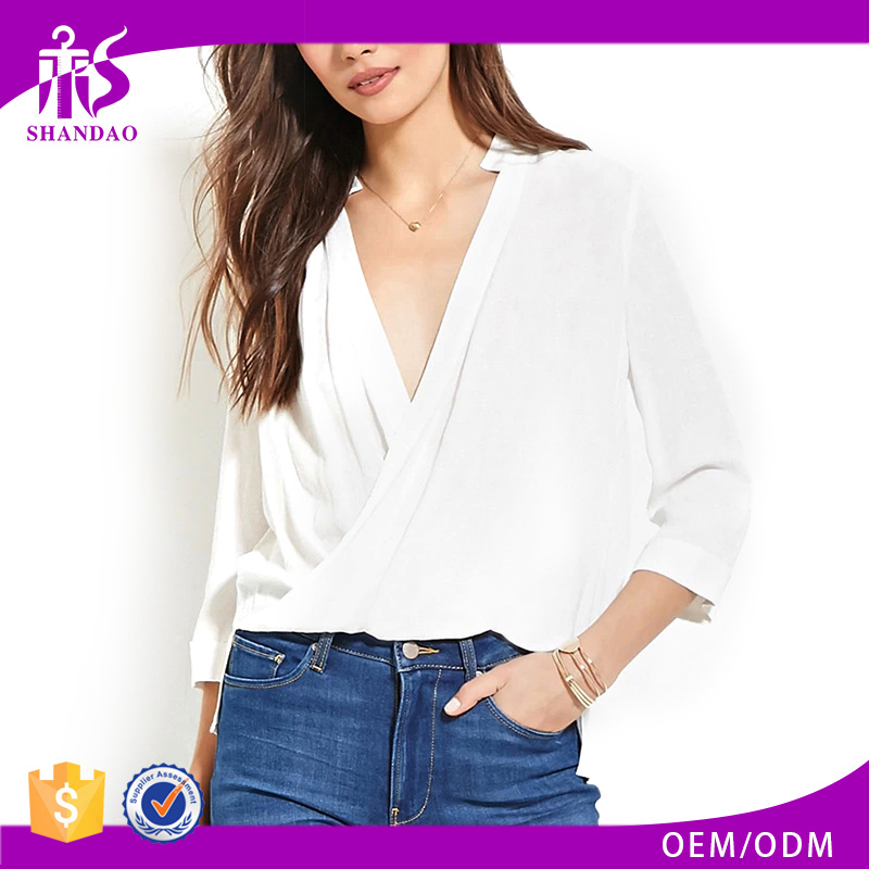 2016 guangzhou shandao summer new design fashion long sleeve women models chiffon blouse