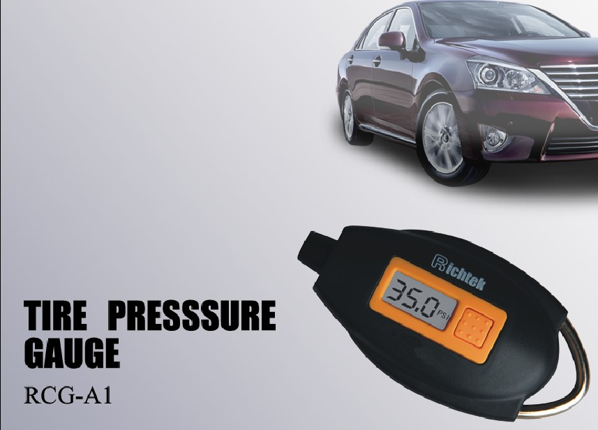 Richtek Portable Digital Tire Pressure Gauge High Accuracy digital display gauge for car tire