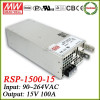 Meanwell RSP-1500-15 1500w switching power supply 15v 100a