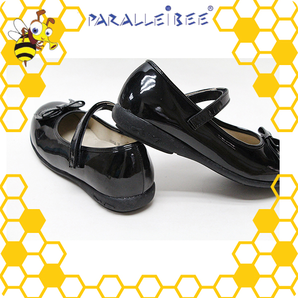 Elegant Appearance non slip healthy black shoes for school