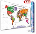 Scratch Map Large World Map Poster Wall Art Posters with Scratch off Tool Scratch off World Map for Track Your Adventure