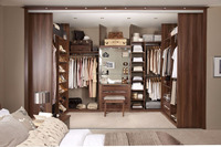 costom style walk in closet
