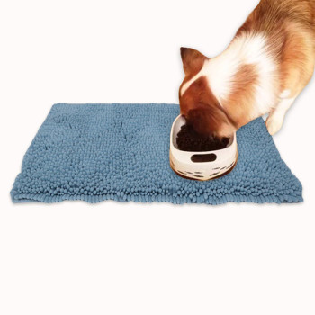 microfiber chenille pet dog food mat