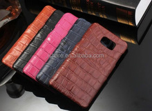Crocodile pattern leather cover case for Samsung Galaxy note 5