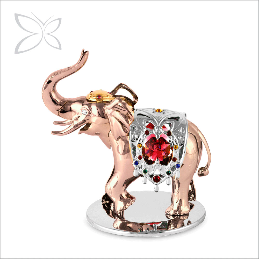 Latest Rose Gold Plated Crystals China Wholesale Elephant Figurines