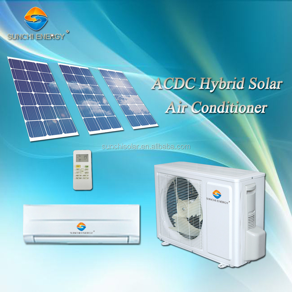 9000btu 12000btu ACDC type hybrid room use best solar split air conditioning company