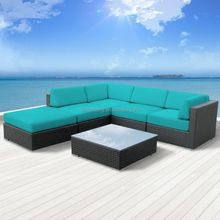 Outdoor Cebu pe rattan wicker sectional sofa furniture