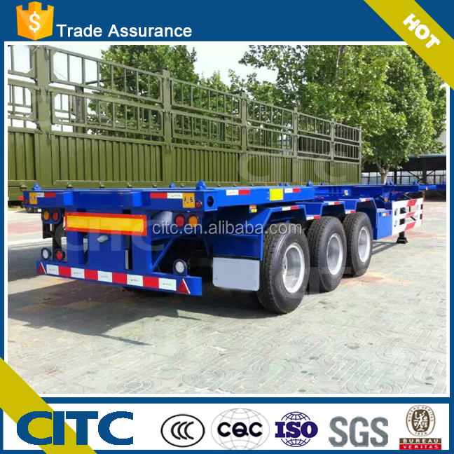 Hot sale skeleton container chassis semi trailer