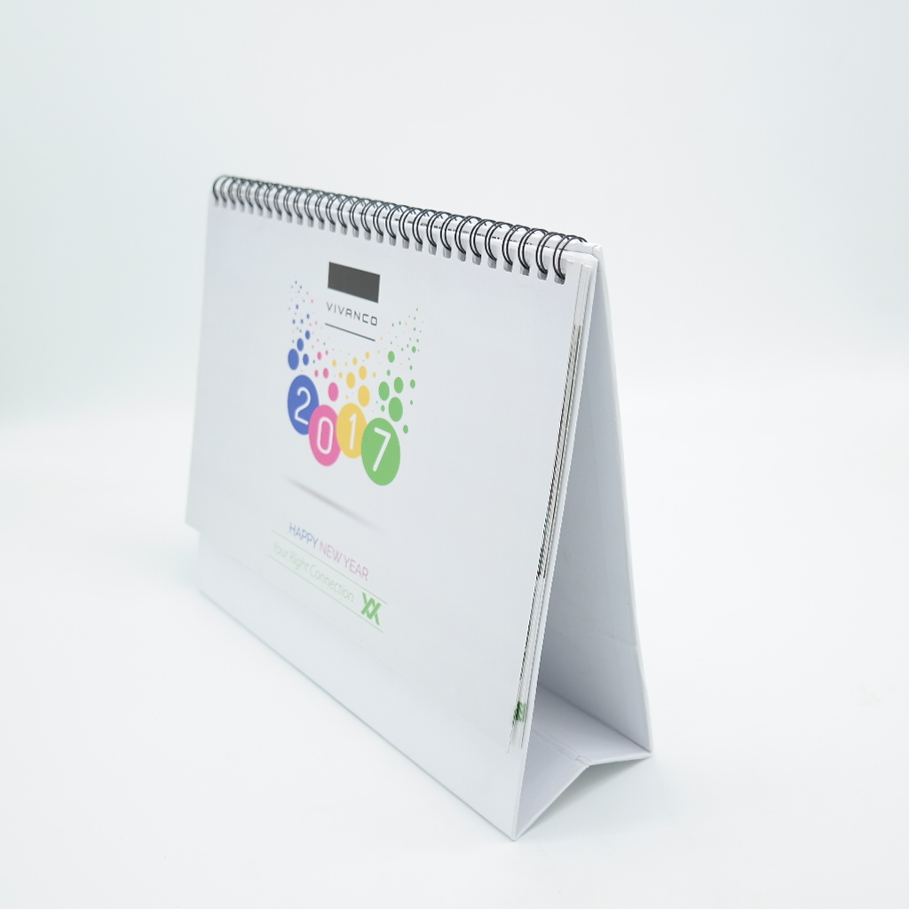 2019 Custom made spiral advertising promotional desk calendar