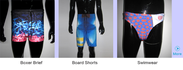 Custom Sublimation Drawstring 4 Way Stretch Mens Board Shorts