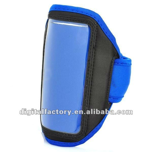 Stylish Sport Armband for HTC One X / S720e - Black + Blue