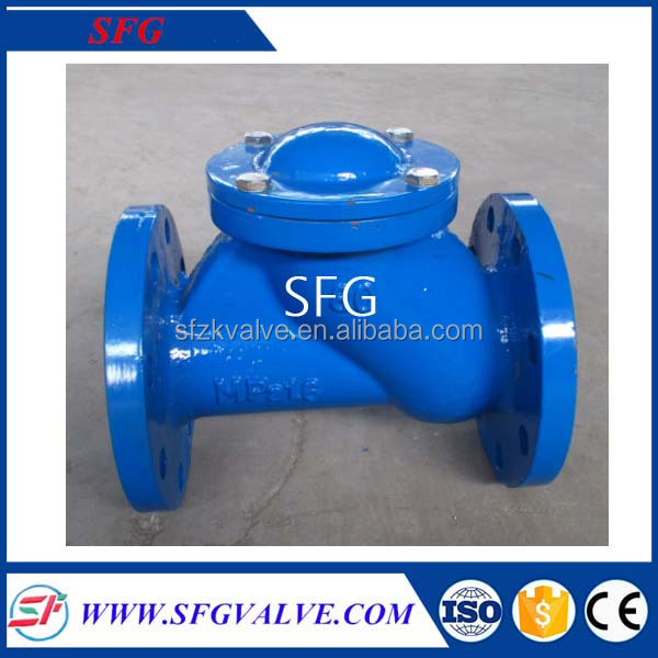 Flanged Ductile Iron Glove Valve,High quality Ductile iron ball Check valve