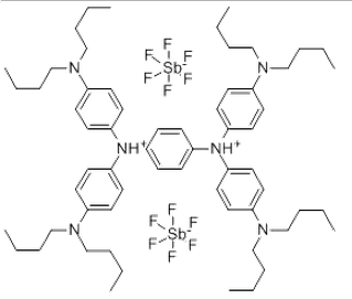 N3,N3,N6,N6-Tetrakis[4-(dibutylamino)phenyl]-1,4-cyclohexadiene-3,6-diaminium hexafluoroantimonate (1:2) CAS NO.: 5496-71-9
