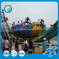 Amusement park attractions !flying ufo outdoor fun fair rides