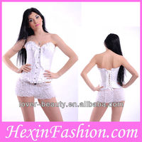 Wholesale White Corset Gothic Clothes(S -6XL )