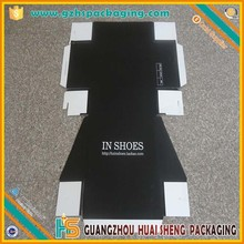 custom flat pack paper cardboard shoes boxes with logo print